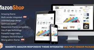 Magento Amazon theme package with the integration of Magento multi vendor