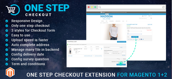 Actionable tips to improve checkout process with Magento one step checkout